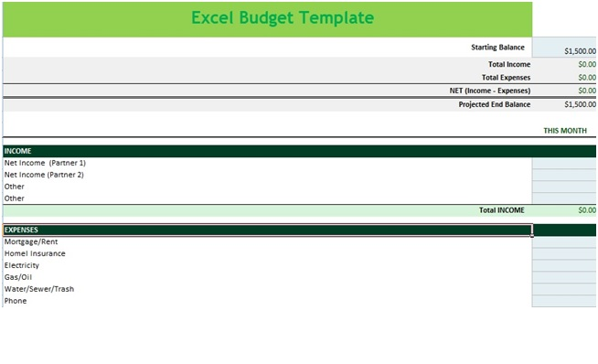 income and expense budget spreadsheet template in ms excel. Black Bedroom Furniture Sets. Home Design Ideas