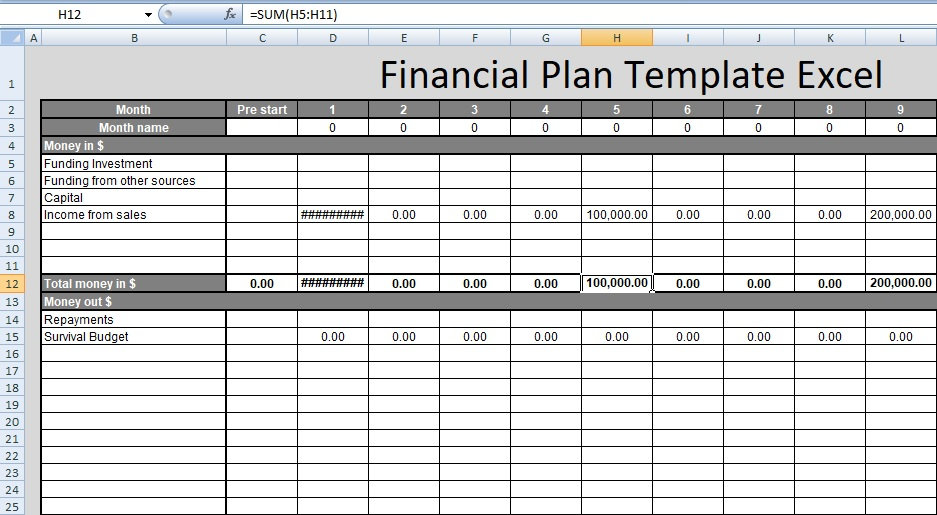 investment plan template xls financial plan template excel free spreadsheettemple