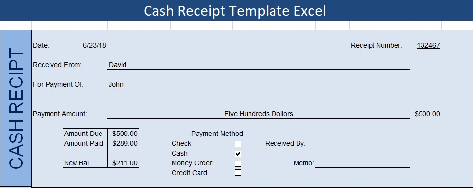 Get Cash Receipt Template Excel Excel Spreadsheet Templates
